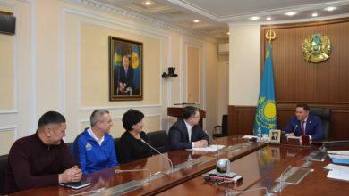 Photo of Волейболисты встретились с акимом области