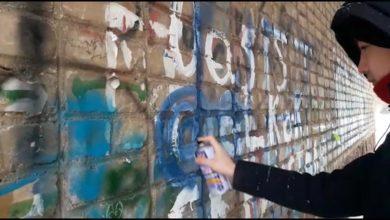 Photo of Полицейские и волонтеры уничтожили граффити с рекламой наркотиков в центре Кокшетау