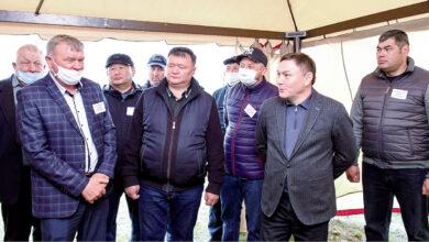 Photo of Ермек Маржикпаев с рабочим визитом в трех районах области