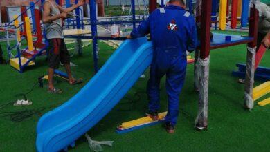 Photo of Детские площадки устанавливают во дворах Красного Яра
