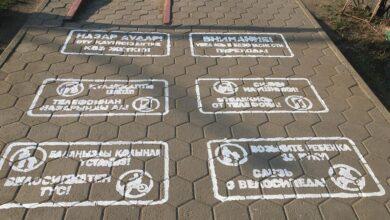 Photo of Отвлекись от гаджета! – «предупреждалки» пешеходов появились на асфальте в Кокшетау