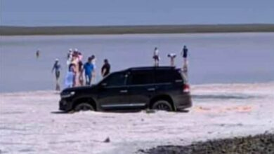 Photo of Автолюбителя оштрафовали на озере Кубейтуз