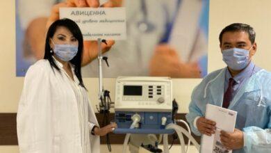 Photo of Аппарат ИВЛ передала в дар облздраву частная клиника  в Кокшетау