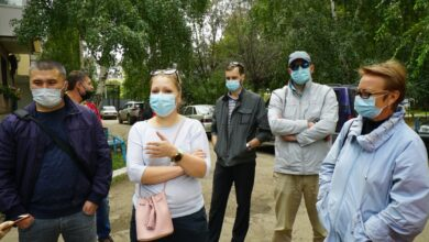 Photo of Дзержинского, 93: Жильцы дома протестуют против строительства офиса
