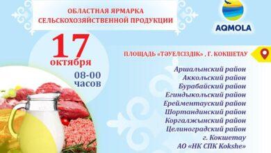 Photo of Сельхозярмарка пройдет в Кокшетау в субботу 17 октября