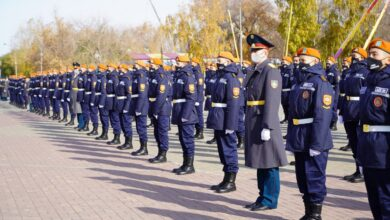 Photo of 147 курсантов Кокшетауского технического института приняли присягу