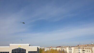 Photo of Вертолет над Кокшетау: идут учения