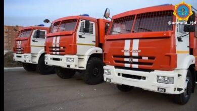 Photo of Пять пожарных машин получила служба ЧС области