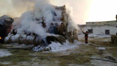 Photo of 200 тонн сена сгорело в Акмолинской области