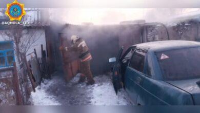 Photo of В Атбасаре спасли семью при пожаре