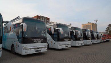 Photo of Мини-больница на колесах: Восемь передвижных медкомлексов отправились из Кокшетау в районы