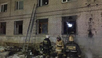 Photo of 40 жильцов эвакуировали из горевшего общежития в Кокшетау