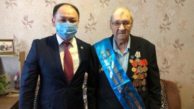 Photo of 95-летний ветеран из Жаксы стал почетным жителем района