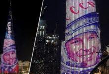 Photo of Портрет Гагарина появился на самом высоком здании Бурдж-Халифа