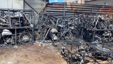 Photo of Свыше 30 мотоциклов сгорели при пожаре в Нур-Султане