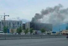 Photo of Пожар произошел в строящемся ЖК в Алматы