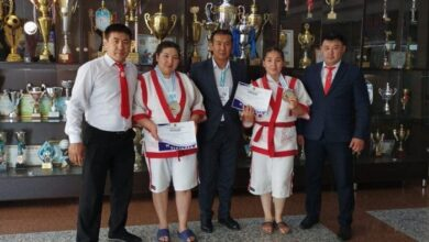 Photo of Акмолинские спортсменки стали призерами кубка Казахстана по қазақ күресі